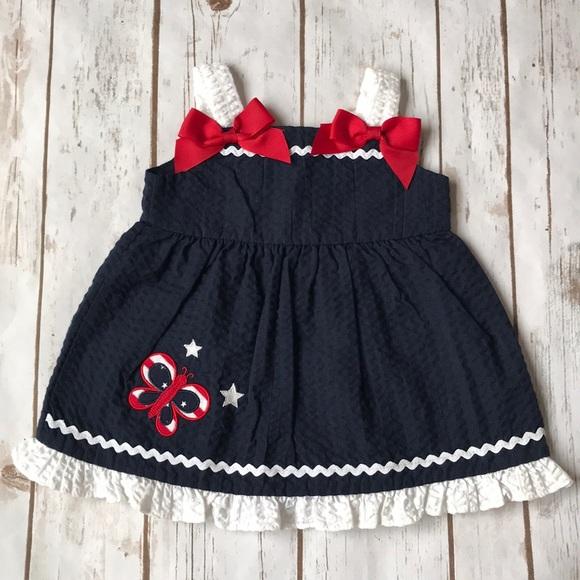 47e14b7c0de Baby Sophie Rose Patriotic Butterfly Dress. M 5ab7b3303a112e101ee8acaf